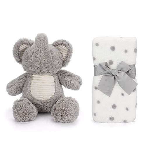 LACOFIA Conjunto manta bebé unisex elefante juguete