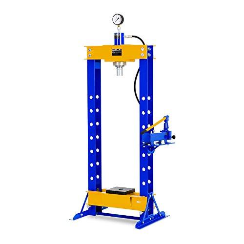 MSW Presse d'Atelier Hydraulique MSW-WP-30T (Force de Pression Max. de 30 000 kg, Hauteur de Travail 70-1.070 mm, Réglable en Hauteur sur 7 Positions, Largeur de la Table de Travail de 460mm)