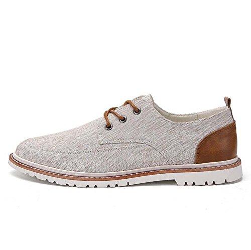 Myi scarpe da uomo primavera novità scarpe basse di tela scarpe casual da uomo trendy classiche (color : bianca, dimensione : 42)