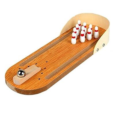 Jeux de table de mini-bowling en bois Puzzle pour enfants Jouets innovants Jeux interactifs pour parents et enfants