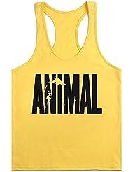 waylongplus Hombre Animal Carta Impresión Fitness Stringer Tank Tops para culturismo Entrenamiento Muscular
