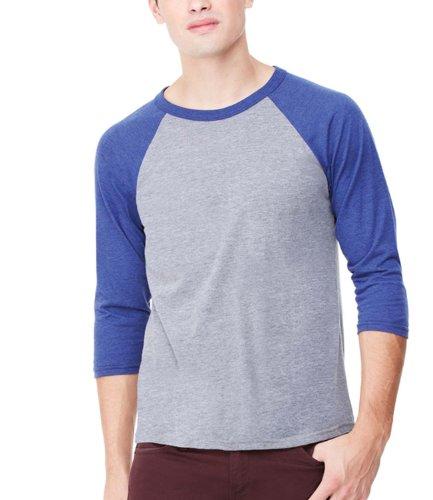 Bella CanvasDamen T-Shirt Grau - Grey/Navy Tri-blend