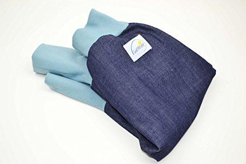 Knickerbocker Jeans aus Bio-Baumwolle, 74 80 86 92 98 104, dunkelblau, bequem mit langen Bündchen, Mädchen, Jungen, modisch, trendy, robust (Jeans Umweltfreundliche)