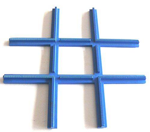 Kreuzung Ein Licht (LEGO® 1 Eisenbahn Schienen Kreuzung - 4,5 / 12 Volt - blau)