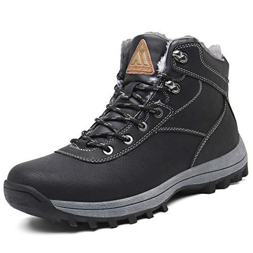 Mishansha Hombre Botas de Invierno Impermeable Botas de Nieve Antideslizante Botines Senderismo Zapatos...