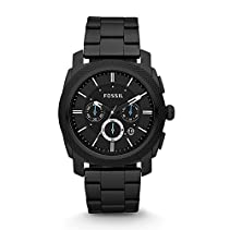 Fossil Herren-Armbanduhr Chronograph Dress FS4552 Black IP