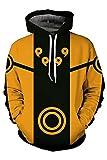 Naruto Uzumaki Kängurutasche Hoodie Sweatshirt Cosplay Kostüm Coat Kapuzenpullover Orange S
