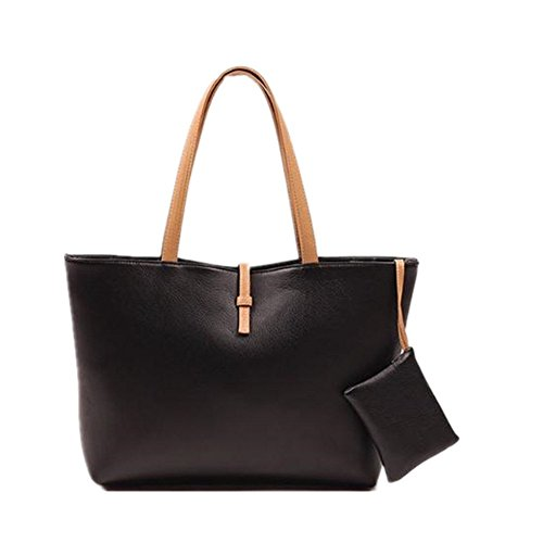 koson-man-classic-fashion-faux-leather-large-tote-bags-with-coin-walletblack