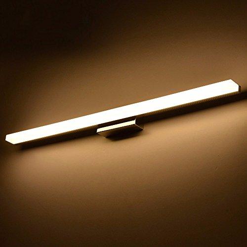 BoYX Acrilico Specchio Luce 40Cm ~ 120Cm Moderni Cosmetici Acrilico Applique Bagno Illuminazione Impermeabile 85 ~ 265V,Bianco Caldo 100Cm