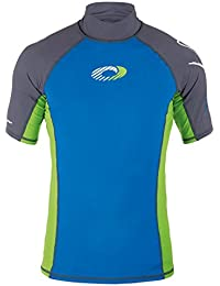 Osprey Men's Short Sleeve Rash Vest Top - UPF 50+ Quick Dry Flatlock Stretch Rash Guard