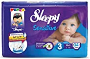 Sleepy Sensitive Midi 3 Beden 4-9 Kg, 34 Adet