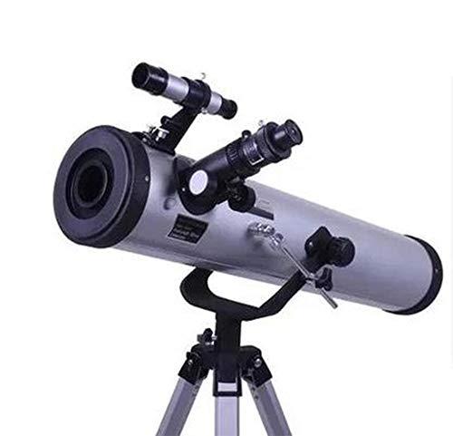 HUAA Telescopio astronomico para Adultos Ninos con Trípode Ajustable y 700/76mm Lente Completamente Recubierta Lente de Barlow Filtro Lunar Adecuado Principiantes Bbservación de Aves