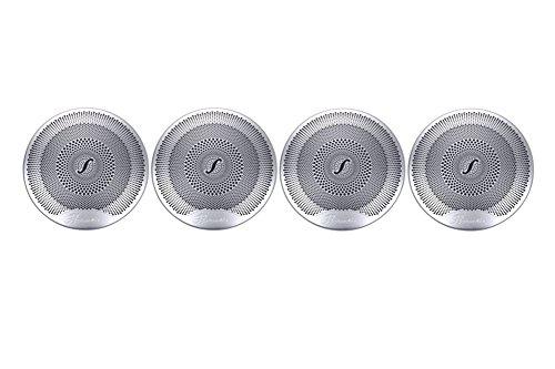 KFZ Zubehör für C-Klasse W20520152016C180C200C260Seite Tür Lautsprecher Verkleidung, Auto Styling silber
