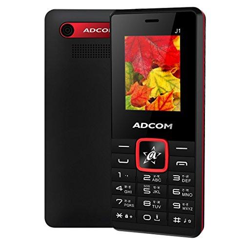 Adcom J1 (1.8 Inch Display, Dual Sim, FM Radio, Made in India, Black Red)