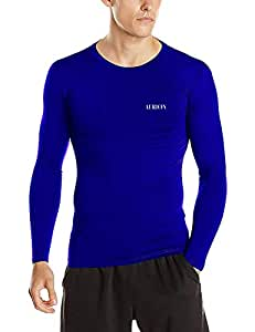Aurion Inner-Lycra-RoyalBlue-(40) Synthetic Unisex Lycra Athletic Multi Sports Compression Top, Large (Blue)