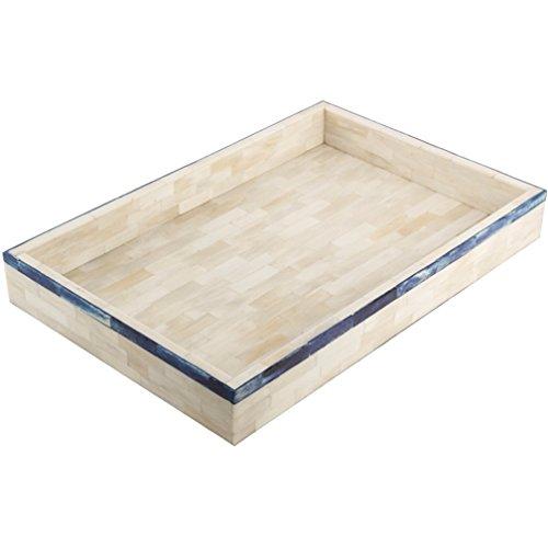 Eccolo Naturals, bac bordée Edge Bleu, 11 x 43,2 cm