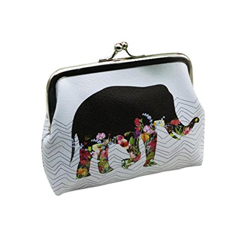 RETUROM Titular de la tarjeta Monedero para mujer de elefante bolso monedero embrague