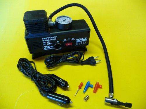 Preisvergleich Produktbild MINI KOMPRESSOR Ballpumpe für 12V oder Steckdose 220V