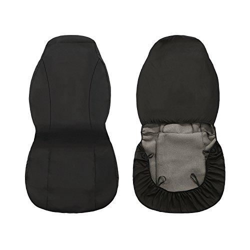 leshp Autositzbezüge Universal Tragbar Front Rear Seat Covers Kissen für Frequenzweichen Limousine Durable Auto Sitz Kissen Schützen Schwarz