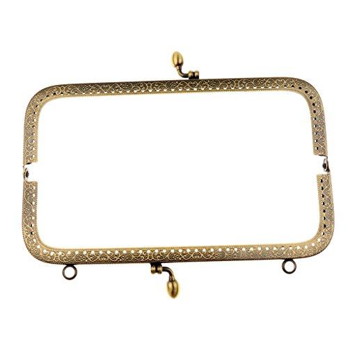 Baosity Bronzefarben Münztüte Abend Geldbörse Handtasche Clip Verschluss - 20 cm -
