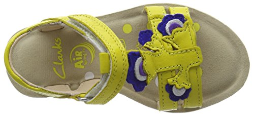 Clarks Kids Mimogracie Inf, Sandales Bride cheville fille Jaune (Yellow Leather)