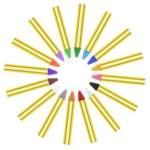 Für Box Crayon Kostüm Erwachsene - STOBOK 32pcs 16 Colors Face Paint Sichere und ungiftige Buntstifte für Gesicht und Körper mit transparenter Schachtel
