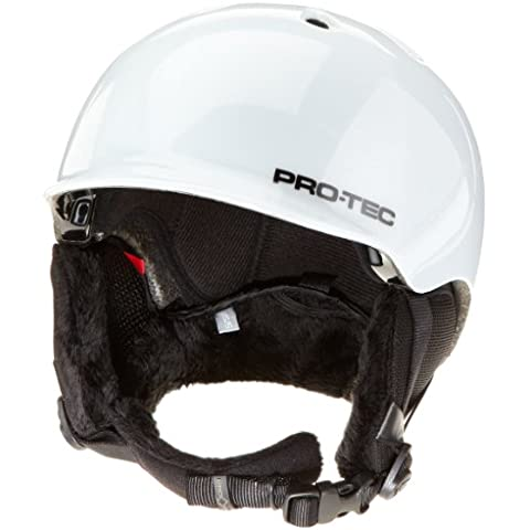 Pro-Tec VKTG5V1 Riot - Casco de esquí y snowboard para hombre blanco gloss white 12 Talla:57-58 cm