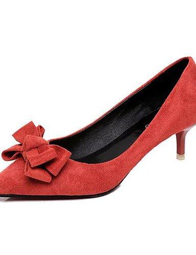 WSS 2016 Chaussures Femme-Décontracté-Noir / Vert / Rouge-Talon Aiguille-Talons-Talons-Laine synthétique red-us6 / eu36 / uk4 / cn36