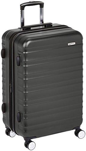 AmazonBasics - Hochwertiger Hartschalen-Trolley mit eingebautem TSA-Schloss und Laufrollen, 78 cm, Schwarz