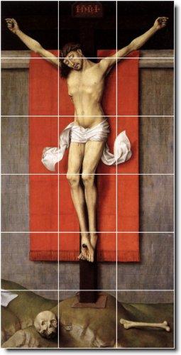 ROGIER WEYDEN RELIGIOSO PARA AZULEJOS MURAL 22  18X 36CM CON (18) 6X 6AZULEJOS DE CERAMICA