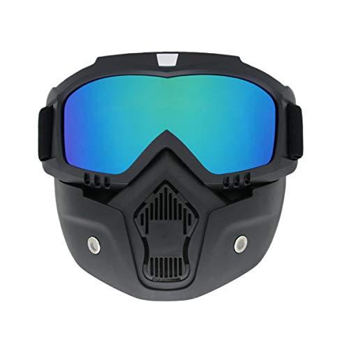 Noradtjcca Vollständig gerahmte Maske Skibrille Fahrradbrille Winddichte Brille Atmungsaktive Brille Abnehmbare Maske für Outdoor-Sportarten -