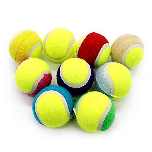 NINGYE Tennisbälle aus Gummi, mit Quietschelement, für kleine Hunde und Haustiere, 16 Stück