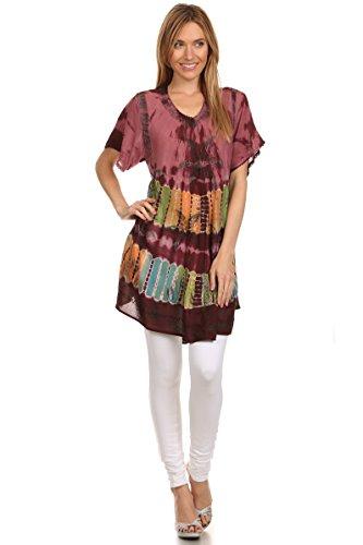 Sakkas Alohanani Kaftan Kleid /zudecken Wein