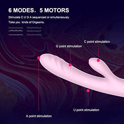 SLH Silikon Vibratōr Weibliche Av Stick 5 Motor Multi-Point Māssage Stick Erwachsene Produkte Weibliche Komfort Gerät Thrusting (Edition : Smart link app)