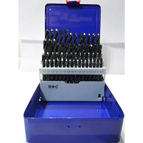 Bohrcraft–Juego de brocas en espiral (HSS DIN 338HSS Tipo N en la industria láser, 41piezas, 6–10x 0,1mm), M 601, 1pieza,