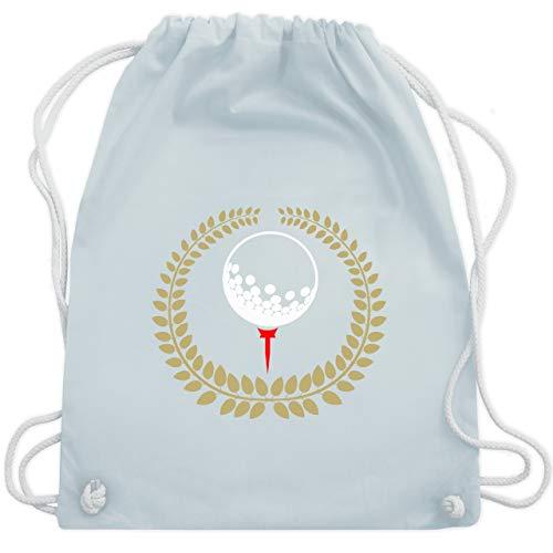 Golf - Lorbeerkanz Golfball Golf-Tee - Unisize - Pastell Blau - WM110 - Turnbeutel & Gym Bag