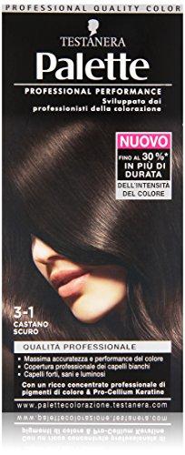 Testanera Palette Crema Colorante, 3-1 Castano Scuro - 115 ml
