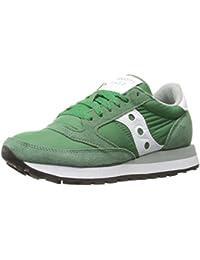 Sneaker Saucony Jazz in suede e tessuto verde e bianco