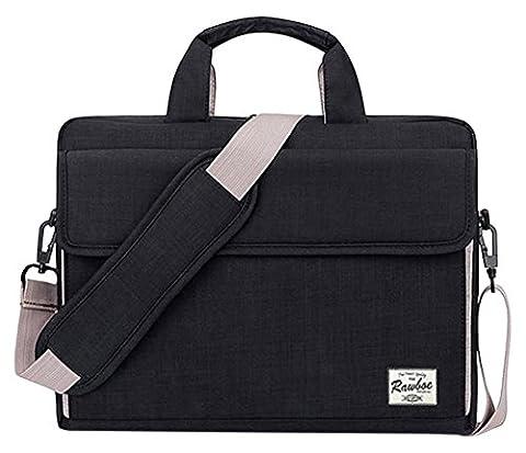 Rawboe® 15-15,6 Zoll MacBook Pro Retina intelligente neue Art-Oxford-Gewebe Multi Functional eleganten, tragbaren Laptop-Tasche Laptop-Hülle für Mann / Frau Tragetasche Messenger Bag Schulter-Aktenkoffer -Handtasche für MacBook / Laptop / Notebook / ipad / Tablet / Ultrabook / Computer für Apple / Acer / Asus / Dell / Fujitsu / Lenovo / HP / Samsung / Sony / Toshiba mit Schulterriemen und mehrere Taschen - Schwarz