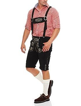 Gennadi Hoppe Lederhose Herren Trachten Shorts Trachten Lederhose