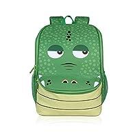 Womdee Toddle Children School Bag Zoo Lunch Bag, Personalized Animal Cartoon Preschool Rucksack Waterproof Nursery Kids Backpacks For Kids Children Boys Girls and Babies(Crocodile)