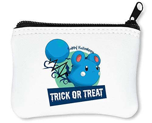 Sad Marill Happy Halloween Pokemons Trick Or Treat Anime Reißverschluss-Geldbörse Brieftasche Geldbörse