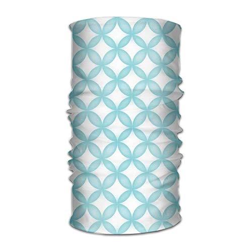 Women's Man's Turban Geometric Circle Round Oriental Traditional Moroccan Style Simple Pattern Print Custom Kerchief