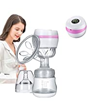 Arkmiido Portable Electric Breast Pump, Breast Pump Electric with LED Display Screen 20 Levels Pink