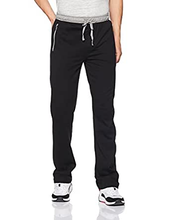 Jockey Men's Cotton Track Pants (8901326134313_9510_Small_Black and Grey Melange)