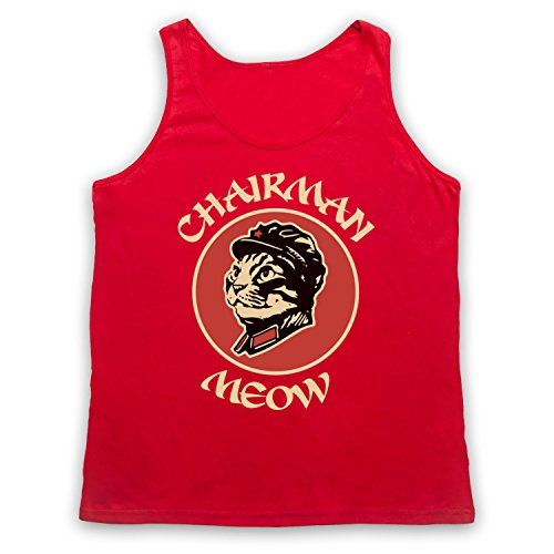 Chairman Meow Cat Tank-Top Weste Rot