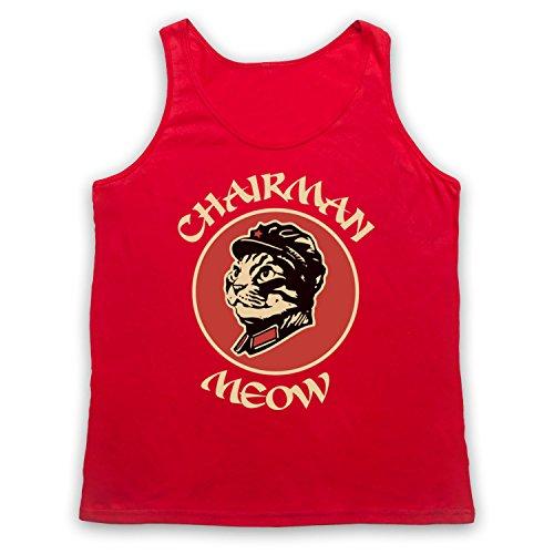 Chairman Meow Cat Tank-Top Weste Rot