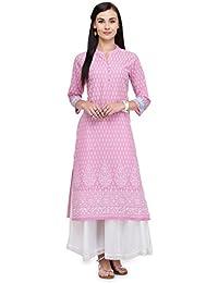 Varanga Pink Cotton Cambric Printed Kurta KFF-VARSS165181