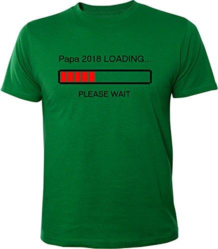Mister Merchandise Herren Men T-Shirt Papa 2018 Loading Tee Shirt bedruckt Grün