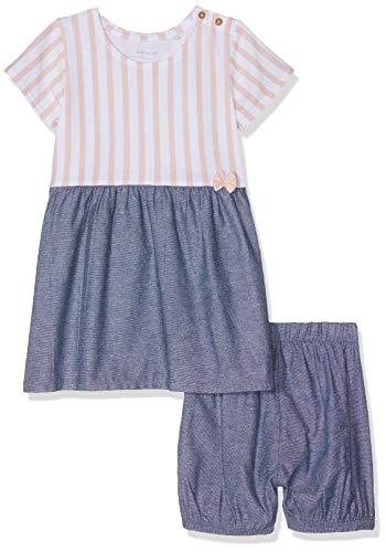 NAME IT Baby-Mädchen Nbfjill Ss Dress W Bloomer Bekleidungsset, Mehrfarbig (Strawberry Cream), (Herstellergröße: 68)
